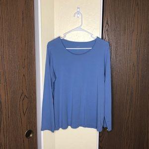 J. Jill | Scoop Neck Pima Cotton Long Sleeve | 1X